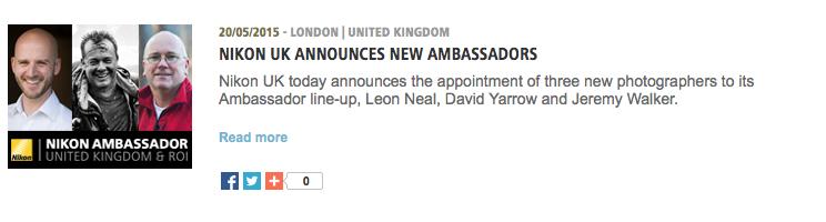 Yarrow Nikon Ambassador